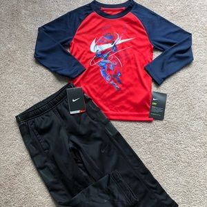 4T Nike joggers and long sleeve NWT